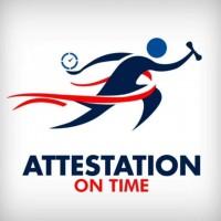 Attestation on Time logo